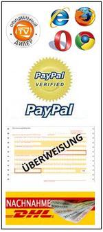 Wir bieten Ihnen verschiedene Zahlungsmöglichkeiten an.